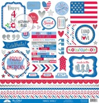 "This & That - Yankee Doodle Cardstock Stickers 12""X12"""