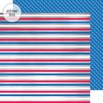 Yankee Doodle Stripes Foil Paper - Yankee Doodle - Doodlebug