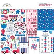 Yankee Doodle - Doodlebug Essentials Page Kit