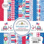 "Yankee Doodle - Doodlebug Double-Sided Paper Pad 6""X6"""