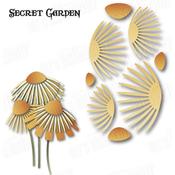 """Secret Garden Flower 1 3.87""""X3.23"""" - Dee's Distinctively Dies"""
