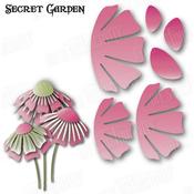 """Secret Garden Flower 3 3.28""""X1.95"""" - Dee's Distinctively Dies"""