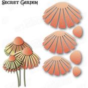 """Secret Garden Flower 4 3.97""""X2.12"""" - Dee's Distinctively Dies"""