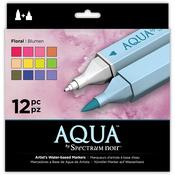 Floral - Spectrum Noir Aqua Markers 12/Pkg