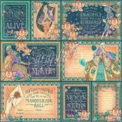 Midnight Masquerade Ephemera Cards - Graphic 45