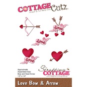 "Love Bow & Arrow, 1.5""X1.4"" - CottageCutz Die"