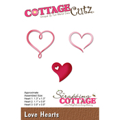 """Love Hearts, 0.9"""" To 1.3"""" - CottageCutz Die"""