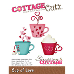 "Cup Of Love, 1.9"" To 2.5"" - CottageCutz Die"