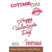 "Happy Valentine's Day Phrase, 3""X2.3"" - CottageCutz Elites Die"