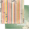 Stripe  Paper - Aryias Garden - Bo Bunny