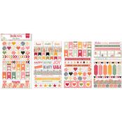 Aryia's Garden Clear Stickers - Bo Bunny