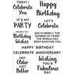 "Birthday - Kaisercraft Sentiments Background Stamp 4""X6"""