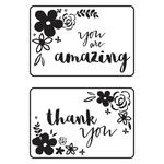 """Mini Floral Card Fronts - Kaisercraft Embossing Folder 4""""X6"""""""