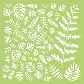 "Tropical Leaves - Kaisercraft Designer Template 6""X6"""