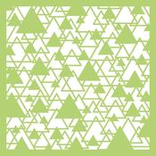 "Abstract Triangle - Kaisercraft Designer Template 6""X6"""
