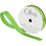 "Kiwi - Single Face Satin Ribbon 5/8""X18'"