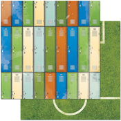 """Lockers - Game On! Double-Sided 12""""X12"""" Paper"""