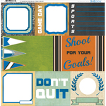 """Game On! Foiled Vellum 12""""X12"""""""