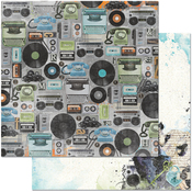 """Old School - Life In Color Double-Sided 12""""X12"""" Paper"""
