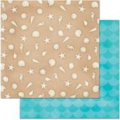 "Sandcastle - Make A Splash Double-Sided Cardstock 12""X12"""