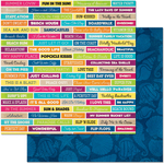 "Sayings - Make A Splash Double-Sided 12""X12"" Paper"