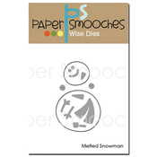 Melted Snowman - Paper Smooches Die