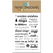 """Winter Sampler - Paper Smooches Clear Stamps 4""""X6"""""""