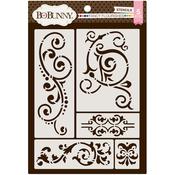 Fancy Flourishes - Essentials Thick Stencils