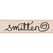 "Smitten - Hero Arts Mounted Rubber Stamp 3""X1"""