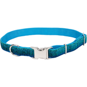 "1"" Blue, Neck Size 18""-26"" - Pet Attire Sparkles Adjustable Dog Collar W/Metal Buckle"