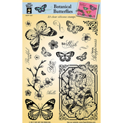 "Botanical Butterflies - Hot Off The Press Acrylic Stamps 6""X8"""