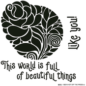 "Circular Rose - Hot Off The Press Stencils 6""X6"""