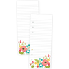 Punched Floral Carpe Diem Faith Bookmark Tablet A5 - Simple Stories {1] A5 punched tablet with {24} double-sided sheets.