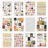 Carpe Diem Emoji Love Stickers A5 - Simple Stories 12 page sticker tablet.