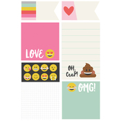 Carpe Diem Emoji Love Sticky Notes - Simple Stories