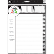 Black Lined - Create 365 Big Planner Fill Paper