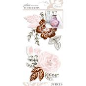 Floral - Parisian Bottle Labels 2/Pkg