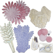 Parisian Paper Flower Kit 73pcs