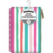 Pink W/Painted Multi Stripe - Create 365 Planner Pouch