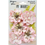 Blush Jardin Secret - Shimmer & Shine Flowers Assorted Sizes 9/Pkg