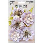 Lilac Jardin Secret - Shimmer & Shine Flowers Assorted Sizes 9/Pkg