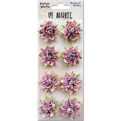 "Orchid - Vintage Shades Blossoms 1.25"" 8/Pkg"