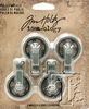 Idea-Ology Mini Pulley Wheels, Tim Holtz