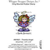"""Thankful Angel - Whipper Snapper Cling Stamp 4""""X6"""""""
