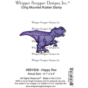 """Happy Rex - Whipper Snapper Cling Stamp 4""""X6"""""""