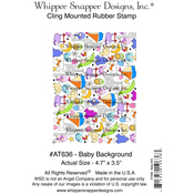"""Baby Background - Whipper Snapper Cling Stamp 4""""X6"""""""