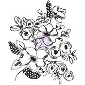 Fresh Flowers #1 - Christine Adolf Cling Rubber Stamps