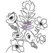 Flora Bella #1 - Christine Adolf Cling Rubber Stamps