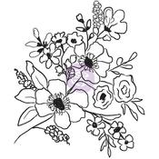 Fresh Flowers #2 - Christine Adolf Cling Rubber Stamps