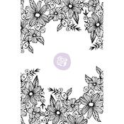 Daisy Frame - Christine Adolf Cling Rubber Stamps